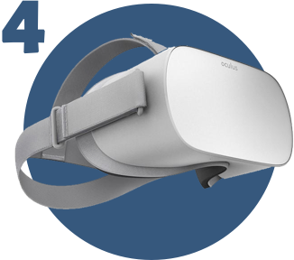 Dispositivo de realidad virtual Oculus Go